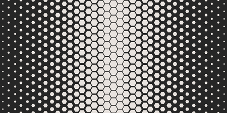 Abstract geometric pattern. Hipster fashion design print hexagonal pattern. White honeycombs on a black background. Vector Illustration.