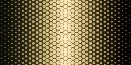 Abstract geometric pattern. Hipster fashion design print hexagonal pattern. Gold honeycombs on a black background. Vector Illustration.