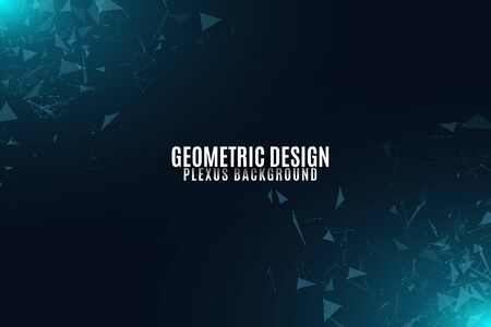 Glowing connected triangles illustration for template