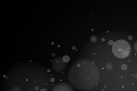 White lights bokeh on a dark background. Light rays. Light effect for your design. White spots. Flying lights.Vector illustration. EPS 10