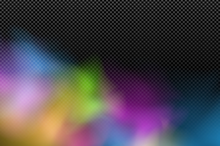 Colorful realistic cloud on a transparent background. Multicolored fog. Abstract modern stylish effect. Holi. Indian festival of colors. Vector illustration. EPS 10 Illustration
