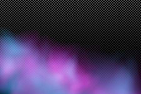 Colorful realistic cloud on a transparent background. Multicolored abstract fog. Modern stylish effect. Holi. Indian festival of colors. Vector illustration. EPS 10