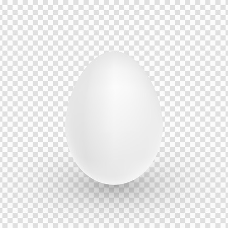 Realistic easter egg isolated on transparent background. Chicken 3d egg. Soft shadow. Festive element for your project. Vector illustration. Standard-Bild - 118805722