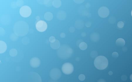 Light effect blue glares bokeh. Abstract lights bokeh on blue background. Blue gradient. Blurred lights. Snowfall effect. Blurry spots. Vector illustration. EPS 10.