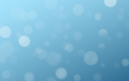 Light effect blue glares bokeh. Abstract lights bokeh on blue background. Blue gradient. Blurred lights. Snowfall effect. Random blurry spots. Vector illustration. EPS 10.