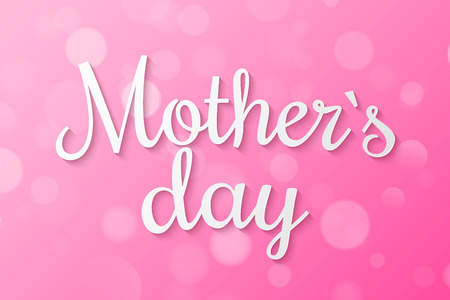 Happy Mothers day cover. Abstract purple lights bokeh. Purple gradient. Blurred lights. I love mom. Festive template. Random blurry spots. Vector illustration. EPS 10.