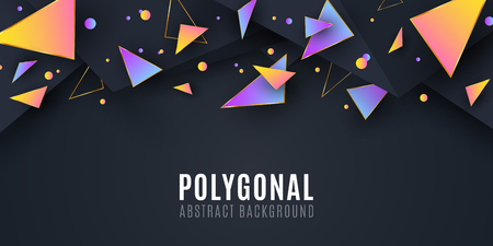 Abstract geometric shapes. Cover for your design. Low poly style. Chaotic forms. Abstract triangles. Polygonal shapes background. Vector illustration EPS 10