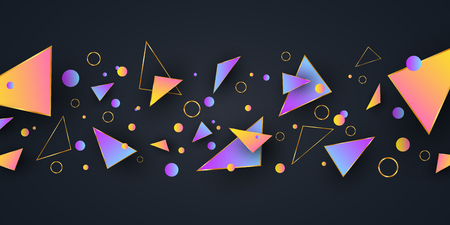 Abstract geometric shapes. Background for your design. Low poly style. Random forms. Abstract multicolored forms. Polygonal shapes. Vector illustration EPS 10
