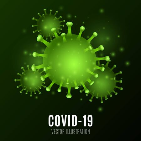 Abstract virus. 3D corona microbe. Medical concept. Pathogen organism. Vector illustration.
