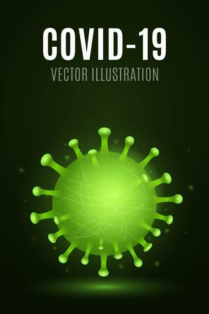Abstract 3d virus microbe corona. Medical concept. Pathogen organism. Vector illustration. 向量圖像