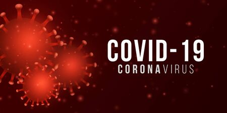 Corona 3d virus microbe. Science background. Pathogen organism. Medical banner. Vector illustration.