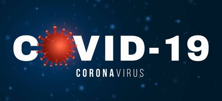 Covid 19 3d virus microbe. Science banner. Symbol stop. Pathogen organism. Medical poster. Vector illustration. 向量圖像