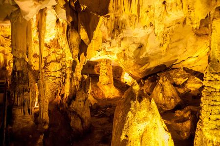 Dupnisa Cave in Demirkoy. Kirklareli, Turkey Stock Photo - 116086136
