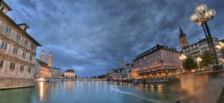zurich: Zurich Cityview Stock Photo