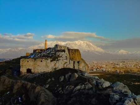 The view of Van castle and city, Turkey