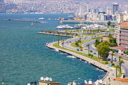 City of Izmir (Smyrna), Turkey. Aegean sea.