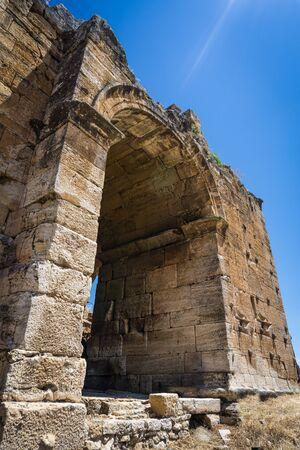 Hierapolis Ancent City ruins in Pamukkale, Denizli, Turkey. Roman theater exterior view. Reklamní fotografie