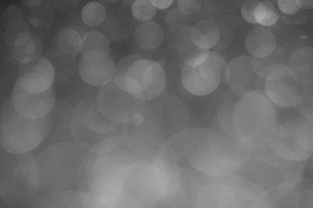 Defocused gray lights. Bokeh background