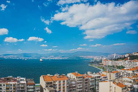 Panoramic City view of Izmir (Smyrna), Turkey. Aegean sea. Foto de archivo