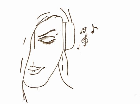 enjoymant: A woman listening good music