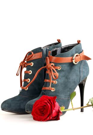 boot and rose photo