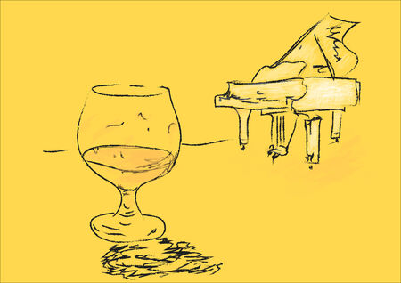 cognac: cognac and piano