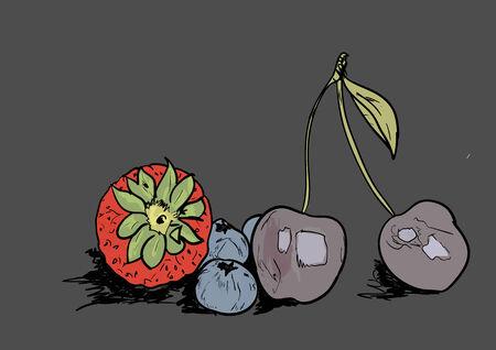 frutos rojos: bayas