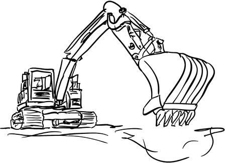 hydraulic platform: excavadora Vectores