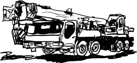 pulley: crane Illustration