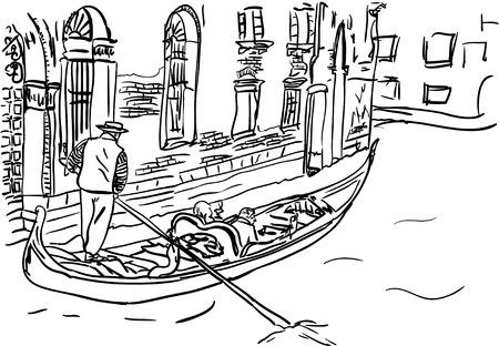 gondolier: venice Illustration
