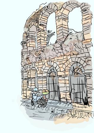 ancient civilization: Verona Illustration