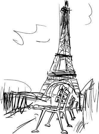 Paris illustration Stock fotó - 35903735