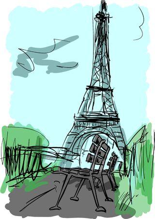 paris illustration: Paris illustration