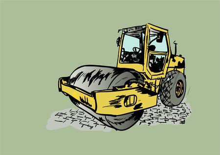 asphalt paving: road roller