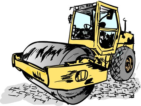 pave: road roller