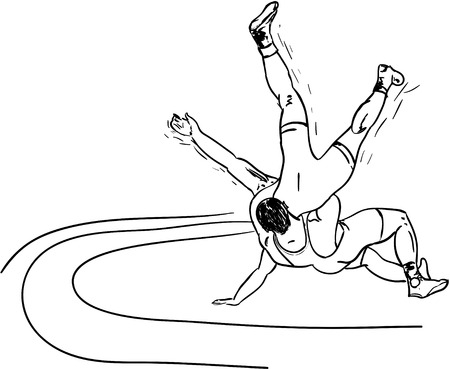 wrestle: wrestle Illustration