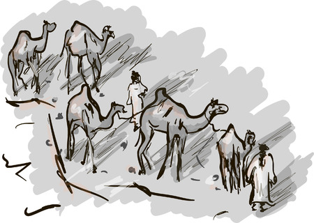 convoy: desert Illustration