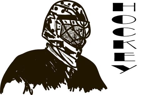 fiambres: hockey  Vectores