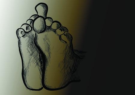 feet Ilustrace