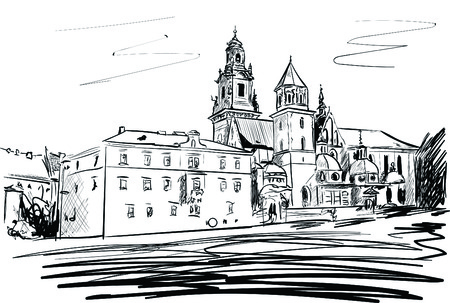 krakow castle Illustration