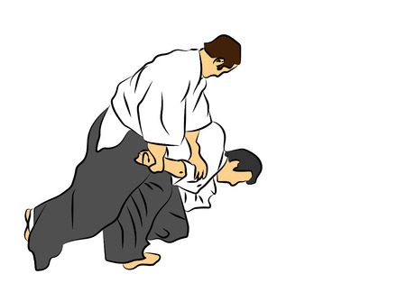 aikido Vektorové ilustrace