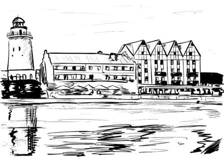 sketch of the city
