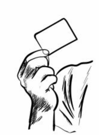 man with a card Stock fotó - 137920747