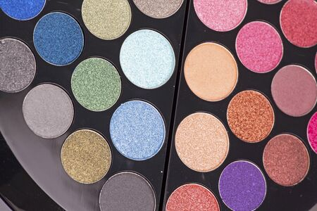 palette of eye shadows