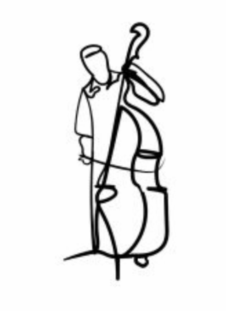 illustration of man with cello