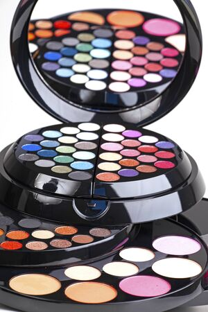 makeup palette of eye shadows