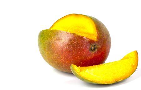 a very tasty mango with slice