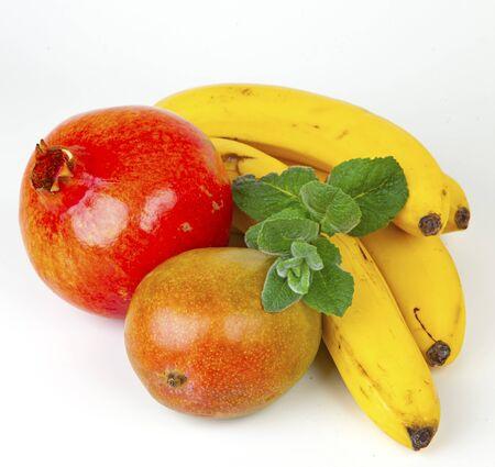 fruits on white background Stock fotó