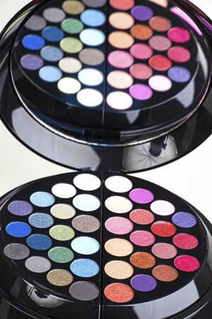 eye shadows palette on the table Stock fotó