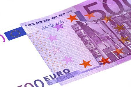 euro banknotes isolated on white Stock fotó